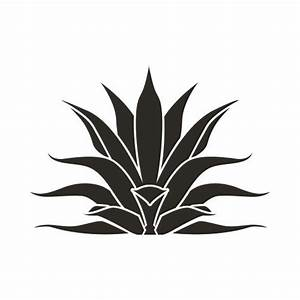 Agave Plant Bw Clip Art