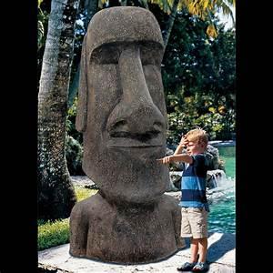 King Moai - Massive Easter Island Statue - The Green Head