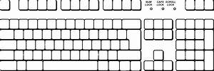 Blank keyboard template printable lesupercoin printables for Blank keyboard template printable