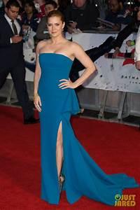 Amy Adams Blue Strapless Celebrity Prom Dress Batman V