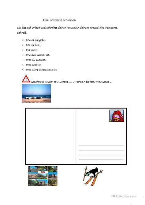 postkarte schreiben klasse  neurohost