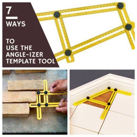 the ultimate template tool multi function angle izer ultimate tile four sided ruler flooring working template measuring