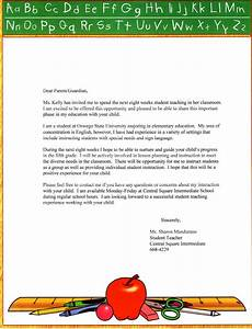 substitute teacher letter to parents just bcause With parent letter from teacher template