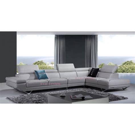 canapé d 39 angle en cuir véritable siena pop design fr