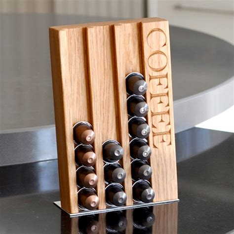 Personalised Oak Coffee Pod Rack   GettingPersonal.co.uk