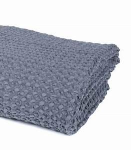 Plaid Canapé Gris : jet de canap couvre lit gris 100 coton plaid addict vente en ligne de plaids coton ~ Teatrodelosmanantiales.com Idées de Décoration