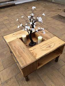 best 25 wooden wine boxes ideas on pinterest wine boxes With wooden crate coffee table for sale