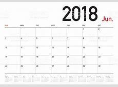 June 2018 Calendar Printable For Desk, Table, Wall