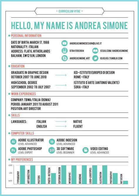 27 best images about curriculum vitae creative resumes
