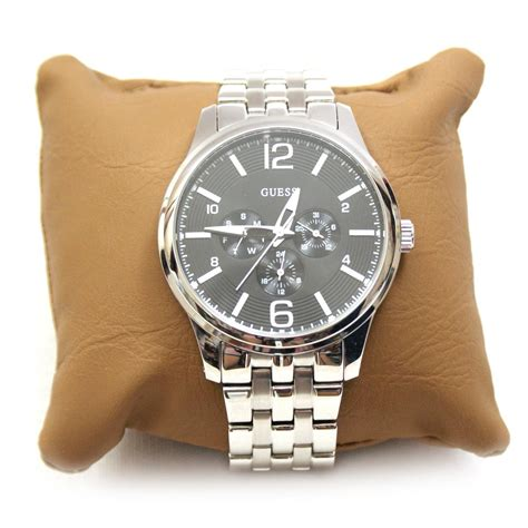 guess guess steel stainless steel mens  ug
