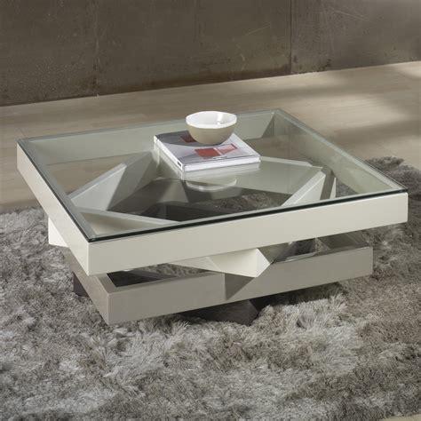 table basse carr 233 e en bois laqu 233 et verre longueur 90cm derry d 233 co tables basses