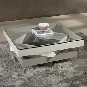 Table Basse Carrée Verre : table basse carr e en verre 100x100 le bois chez vous ~ Teatrodelosmanantiales.com Idées de Décoration