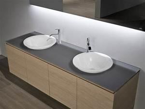 Waschbecken Mit Holzplatte : rundes waschbecken f r ihr badezimmer ~ Michelbontemps.com Haus und Dekorationen