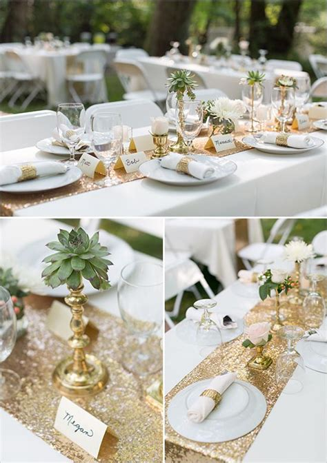 Gold and Mint Vintage Wedding Gold wedding decorations