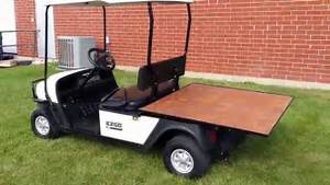 2010 Ezgo Mpt 1000e Flatbed Utility Vehicle Golf Cart New