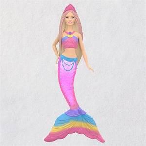 2019 Rainbow Lights Mermaid Barbie Hallmark Christmas