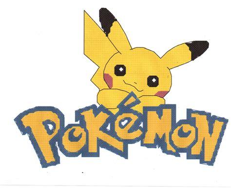 Pokemon Logo Counted Cross Stitch Pattern
