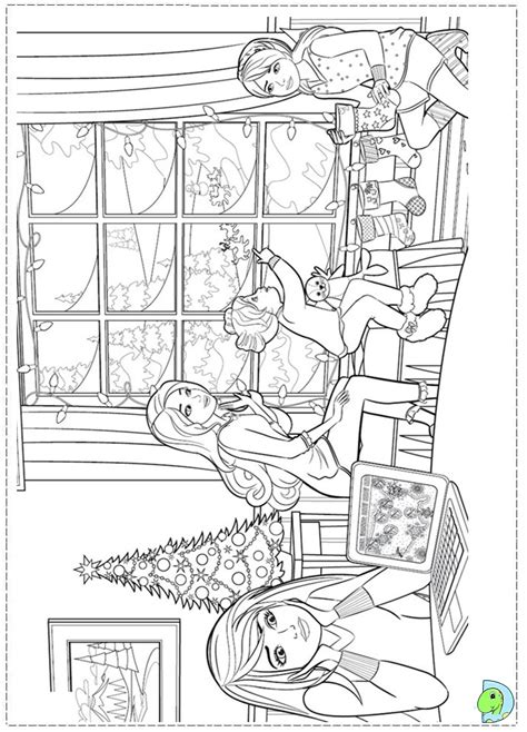 barbie   perfect christmas coloring page dinokidsorg