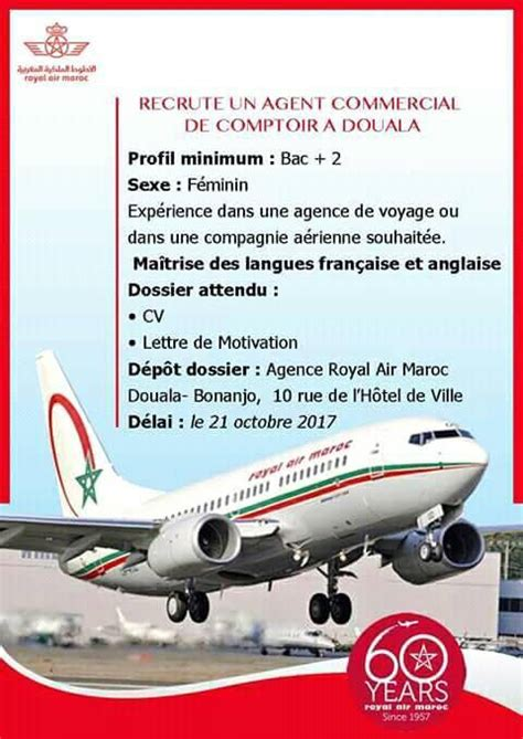 modele de cv de comptoir voyage avis de recrutement royal air maroc ram