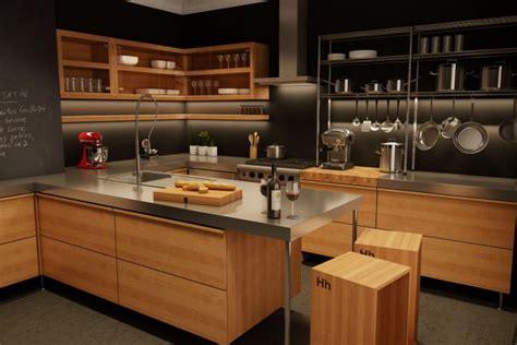 cuisine inox et bois cuisine moderne en bois du québec léger