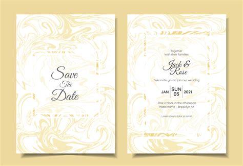 modern wedding invitation set liquid marble textures