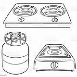 Gas Stove Drawing sketch template