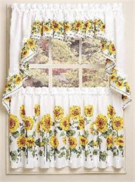 Sunflower 3 piece Curtain Tier and Swag Set   Free