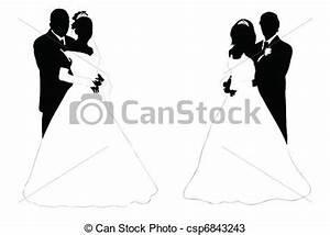 Dessin Couple Mariage Noir Et Blanc : vecteurs de couple mariage mariage couple silhouette ~ Melissatoandfro.com Idées de Décoration