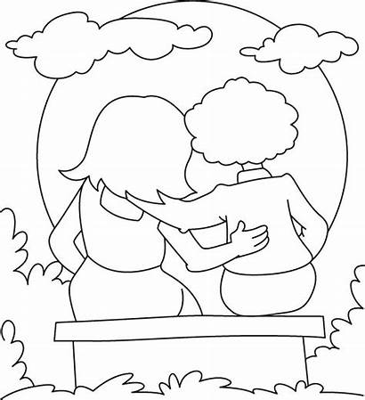 Friendship Coloring Pages Friends Printable Easy True