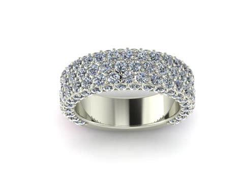 wide pave diamond wedding band shapiro diamonds