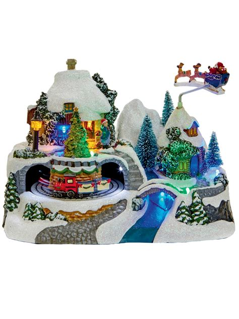 animated village christmas decoration ornament moving