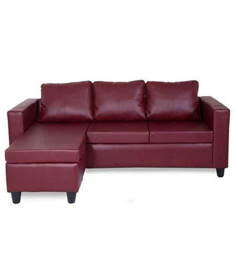 Deco L Prices furniture deco l shape sofa in maroon buy