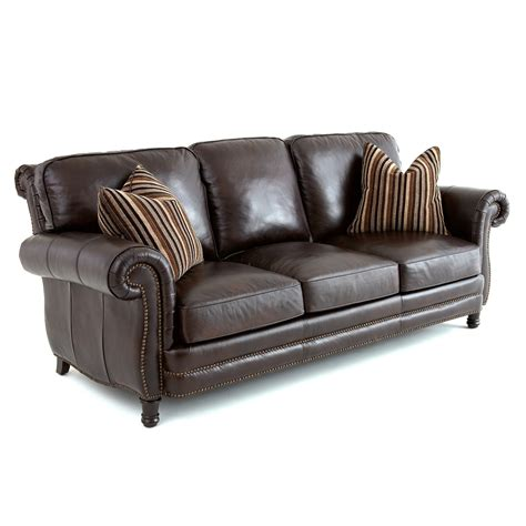 Pillows For Leather Sofa by Steve Silver Chateau Leather Sofa With 2 Accent Pillows