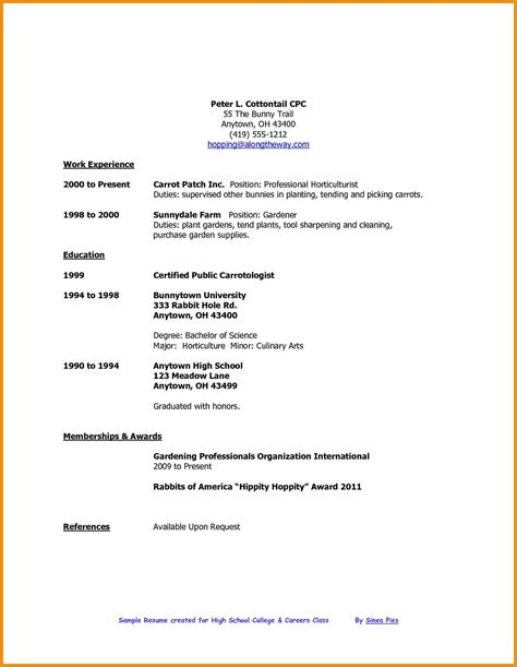 References Resume High School by High School Graduate Resume Generic Resume