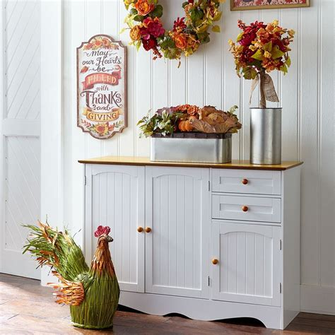 brylanehome country kitchen buffet honey white