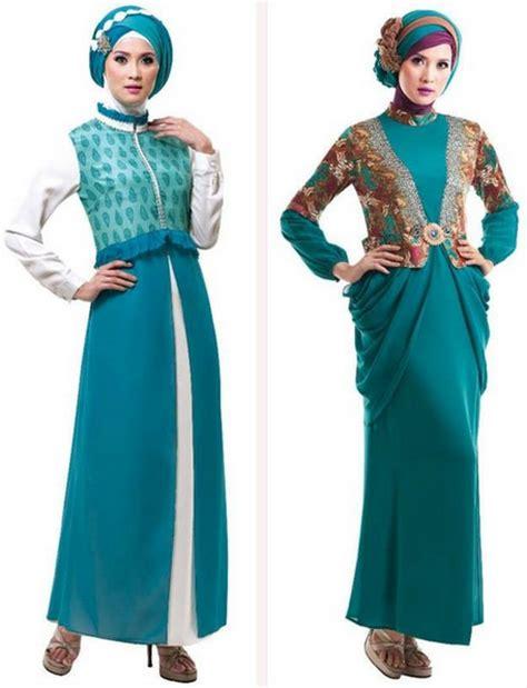 gamis matahari 2 model baju gamis terbaru batik pesta bahan brokat sifon