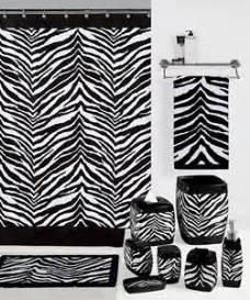 zebra print bathroom ideas safari black amp white zebra print bath accessories bathroom collection choice ebay