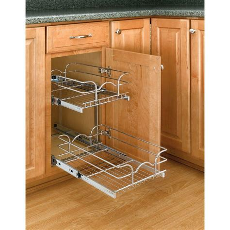 pull out baskets for kitchen cabinets rev a shelf 2 tier pull out base cabinet basket drawer