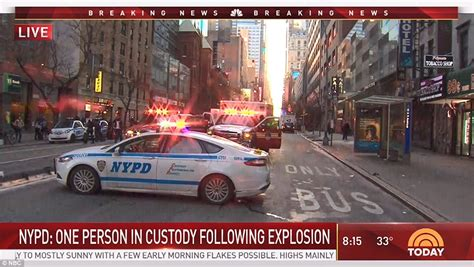 explosion at nyc port authority terminal in manhattan daily mail