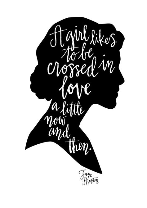 Jane Austen Quote Calligraphy Print by MintAfternoon