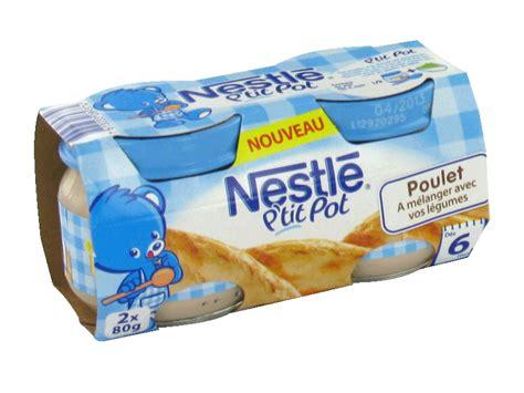 nestle p pot poulet 2x80g des 6 mois tous les produits assiettes petits pots de l 233 gumes
