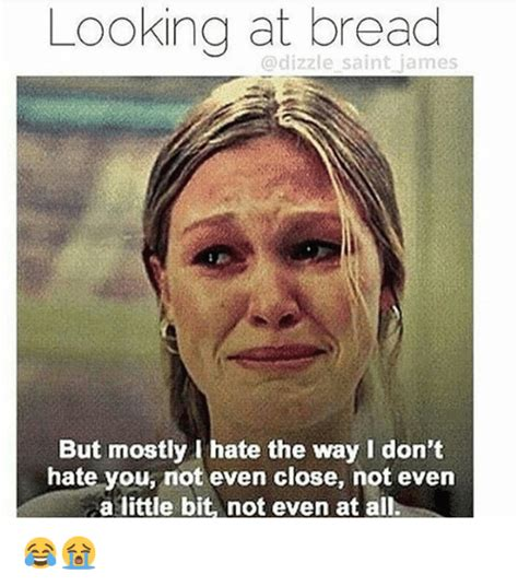 Looking Meme - looking at bread dizzle saint james but mostly i hate the way don t hate you not even close not
