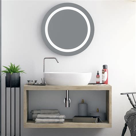 Mensole Per Lavabi D Appoggio Mensola Con Vano A Giorno 110 Cm Effetto Legno Color
