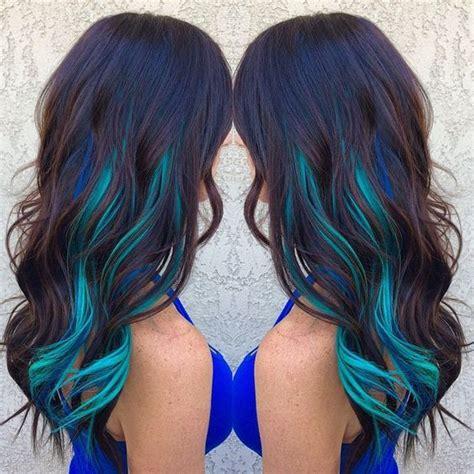 17 Best Ideas About Blue Hair Streaks On Pinterest Blue