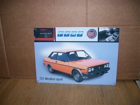 Fiat Sign by Fiat 127 128 131 Tin Sign Classic Car Memorabilia Metal