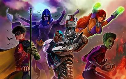 Titans Teen Artwork Wallpapers Resolution Fan Dccomics