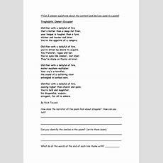 Dragon Poetry Comprehension Yr 56 By Ellieteacher  Teaching Resources
