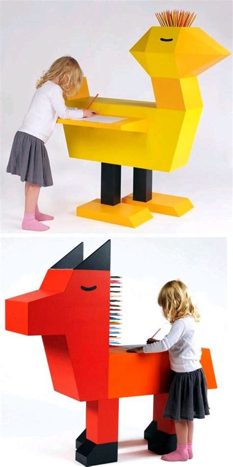pencil holding animal desks kids furniture kids bedroom