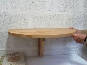 Table Demi Lune Pliante : table murale rabattable demi clasf ~ Dode.kayakingforconservation.com Idées de Décoration