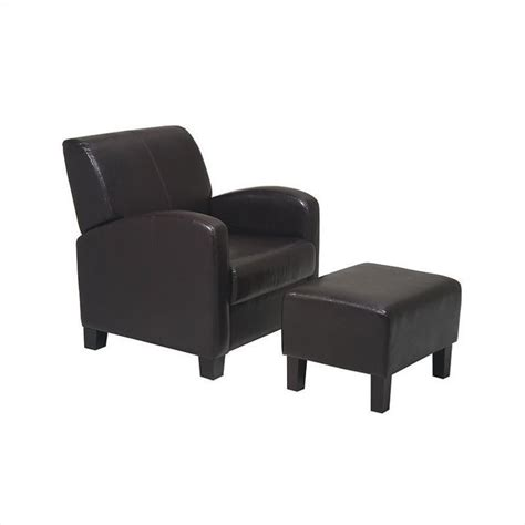 Metro Chair With Ottoman In Espresso Met807